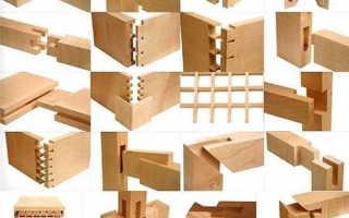 Столярные соединения деталей из древесины