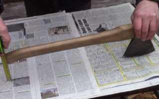 Как правильно насадить топор на топорище