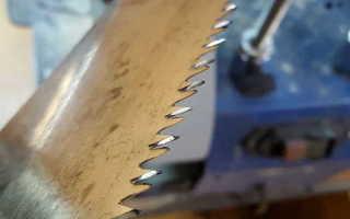 Как заточить ножовку по дереву и развести зубья