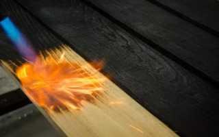 Обжиг дерева газовой горелкой (паяльной лампой)