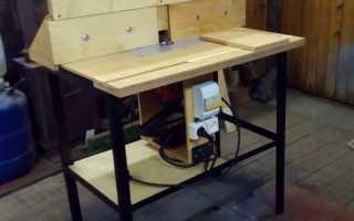 Изготовление самодельного стола для ручного фрезера
