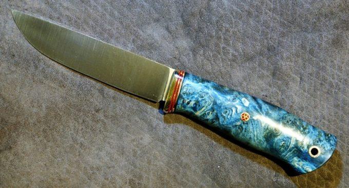Рукоятка ножа из стабилизированной древесины