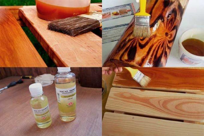 Обработка льняным маслом