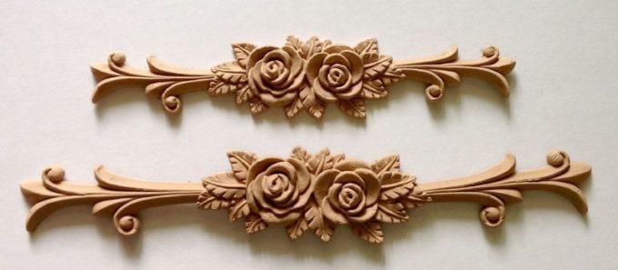 Декор из древесной пасты