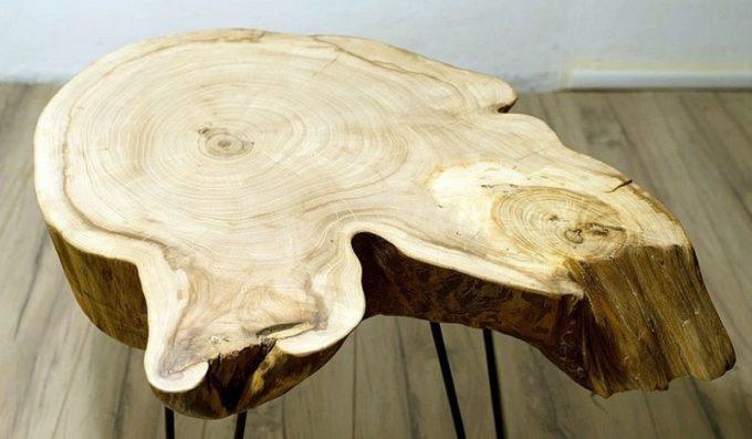 Цельный слэб из дерева