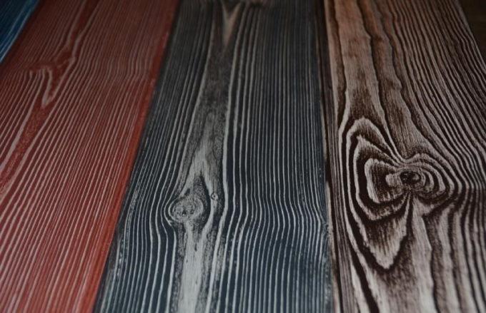Тонирование брашированной древесины
