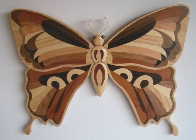 Сувенир бабочка маркетри