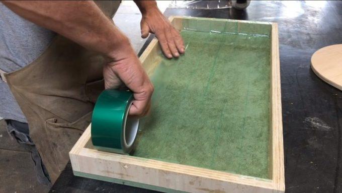 Подготовка к заливке смолы