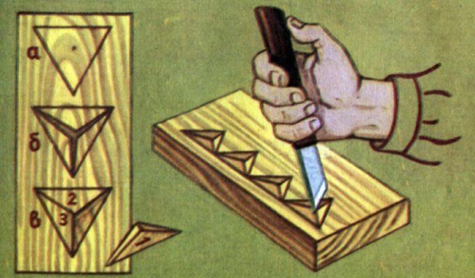 Техника выполнения простых узоров