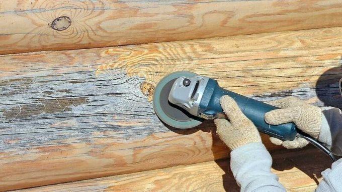 Снятие синевы с древесины