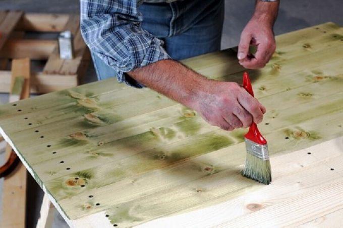 Отбеливание древесины биозащитой