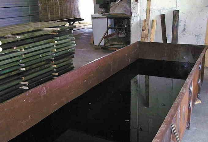 Вымачивание древесины в медном купоросе
