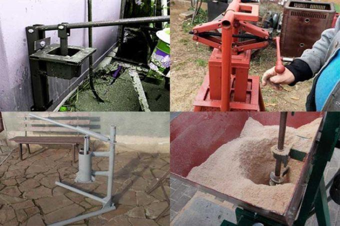 Механический пресс для изготовления брикетов
