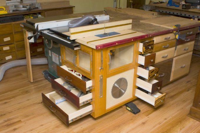 Многофункциональный стол для фрезера