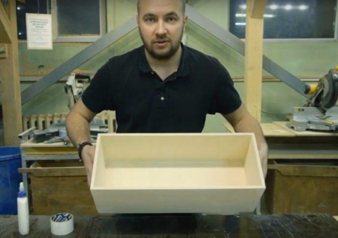 Готовый ящик из фанеры