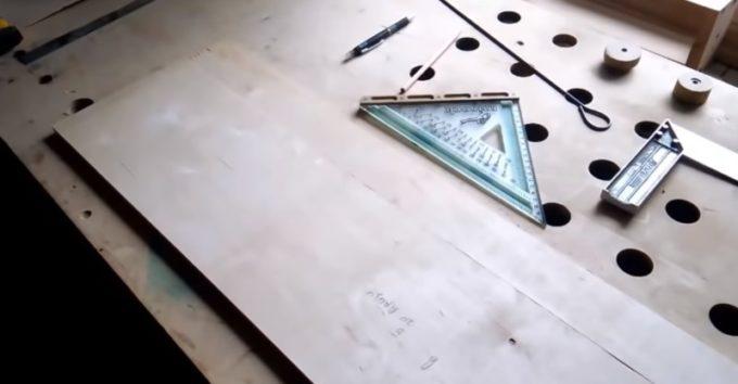 Заготовки для ящика из фанеры