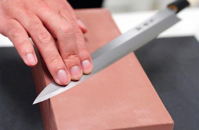 Шлифовка ножа после заточки