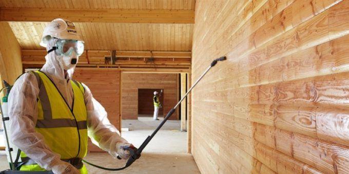 Защита при обработке древесины антисептиком