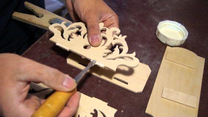 Соединение деталей из фанеры при помощи клея