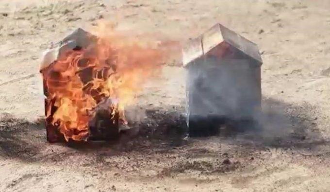 Древесина, не обработанная и обработанная огнезащитой