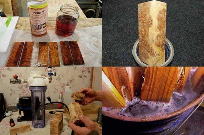 Процесс стабилизации древесины