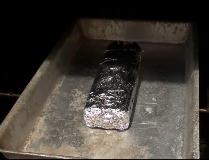 Запекание брусков в духовке
