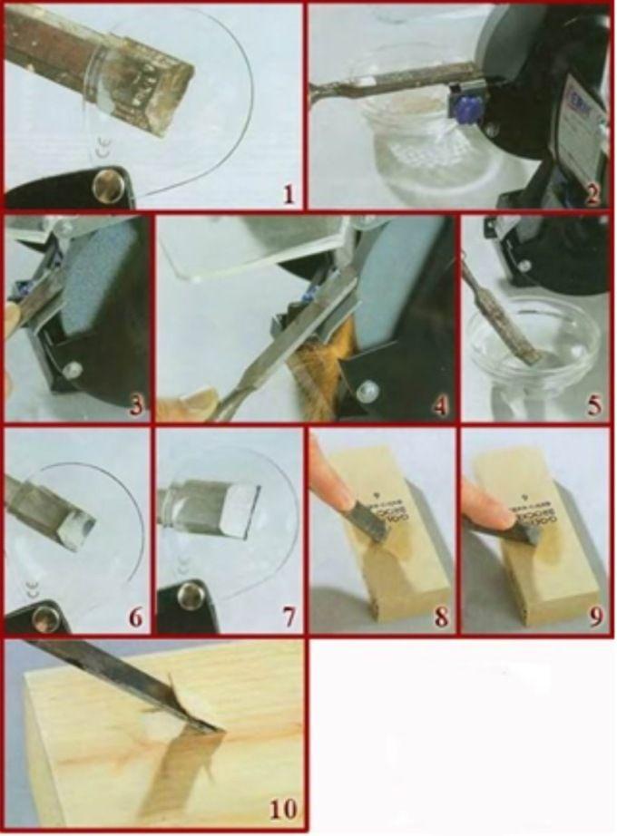 Пошаговая инструкция заточки стамески