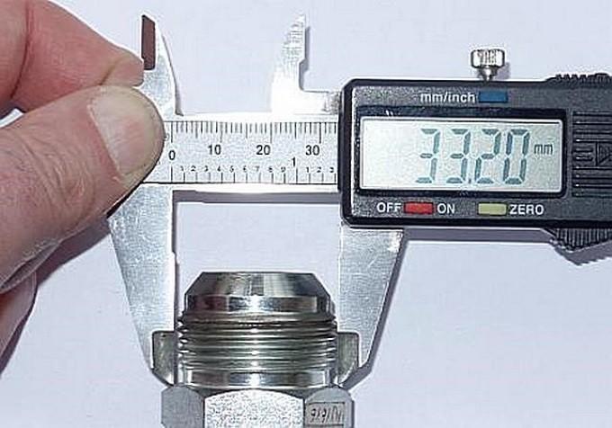 Измерение внешней резьбы штангенциркулем