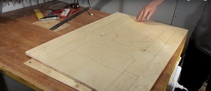 Перенос чертежа на фанеру