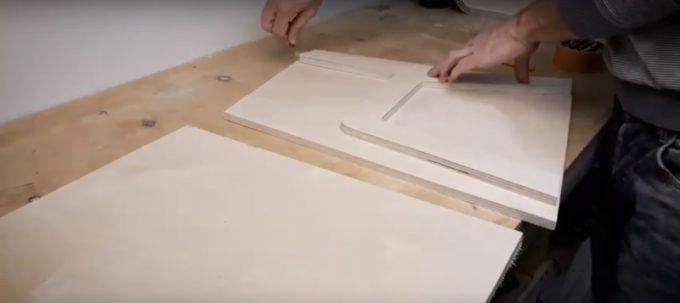 Использование готовой ножки стула как лекало