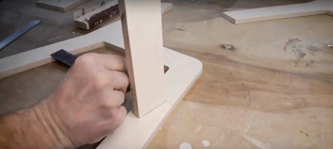 Сборка каркаса стульчика
