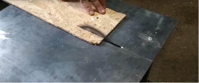 Распил древесно стружечной плиты