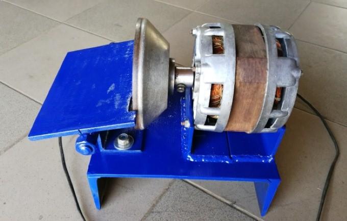 Миниатюрный станок из двигателя от стиральной машины своими руками