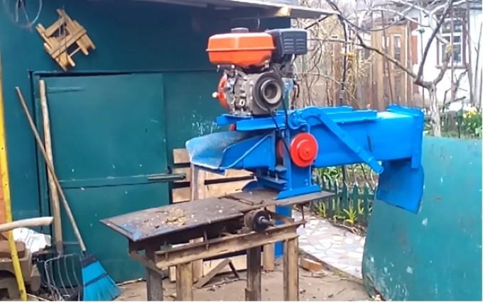 Сборка дробилки древесных отходов