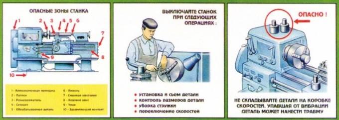 Техника безопасности работы на токарном станке