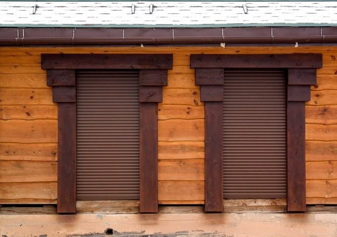 Фасад из горбыля