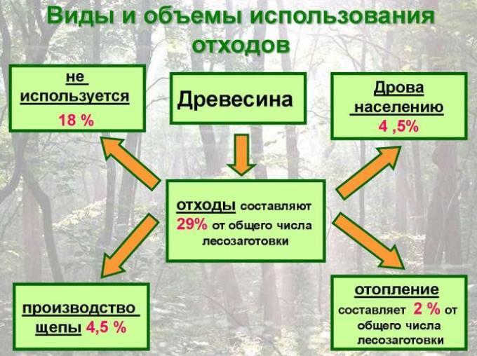 Виды древесных отходов