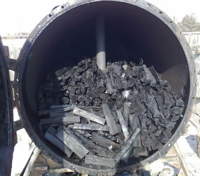 Печь для изготовления угля
