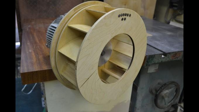 Крыльчатка из фанеры для стружкоотсоса
