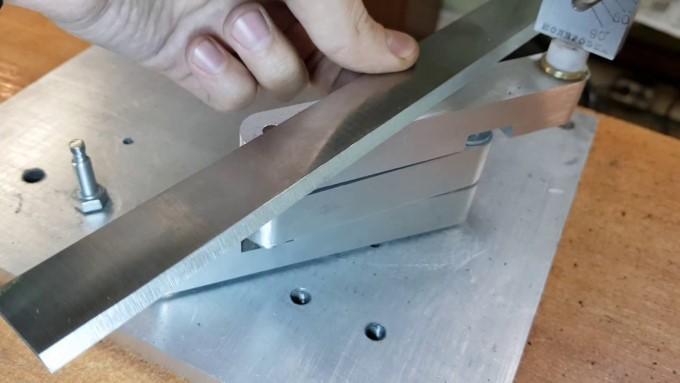 Заточка ножей для фуганка